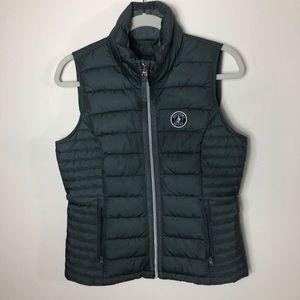 A&F gray puffer vest